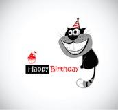 lycklig födelsedagkatt stock illustrationer