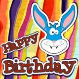 lycklig födelsedagkortdesign också vektor för coreldrawillustration Royaltyfri Foto