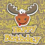 lycklig födelsedagkortdesign också vektor för coreldrawillustration Arkivfoton