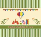 lycklig födelsedagkorthälsning Royaltyfri Bild