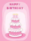 lycklig födelsedagkorthälsning Arkivbilder