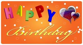 lycklig födelsedagkorthälsning Royaltyfri Foto