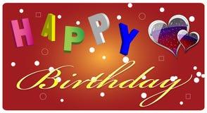 lycklig födelsedagkorthälsning Fotografering för Bildbyråer