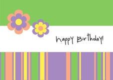 lycklig födelsedagkorthälsning Arkivbild