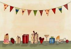 lycklig födelsedagkorthälsning Arkivfoton