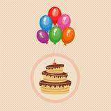 lycklig födelsedagkorthälsning Royaltyfri Fotografi