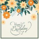 lycklig födelsedagkorthälsning Royaltyfria Foton