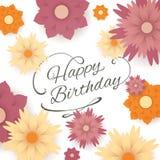 lycklig födelsedagkorthälsning Royaltyfria Bilder
