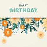 lycklig födelsedagkorthälsning Arkivfoto