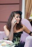 Lycklig födelsedagkvinna Royaltyfria Bilder