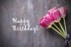 Lycklig födelsedagvykort Royaltyfria Bilder
