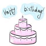 Lycklig födelsedagvykort också vektor för coreldrawillustration stock illustrationer