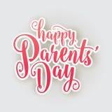 Lycklig förälderdag Fotografering för Bildbyråer