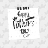 Lycklig för dagdesign för fader s bakgrund Märka design greeting lyckligt nytt år för 2007 kort Kalligrafibakgrundsmall för dag f Royaltyfri Foto