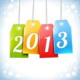 Lycklig för hälsningskort för nytt år vektor Arkivbild