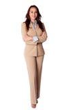 Lycklig företags affärskvinna Arkivbilder