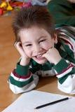 lycklig förträning för ålderpojke royaltyfri foto