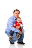 lycklig fader Arkivfoton