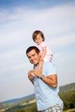 Lycklig fader Arkivfoto