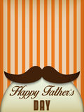 Lycklig fader Day Mustache Love Arkivbild