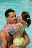 Lycklig fader och dotter Royaltyfri Bild