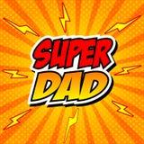 Lycklig faderDay Super Hero farsa Fotografering för Bildbyråer