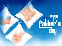 Lycklig faders bakgrund för hälsningar för beröm för ferie för dag royaltyfri illustrationer
