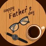 Lycklig faders bakgrund för hälsningar för beröm för ferie för dag stock illustrationer