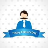 Lycklig faders design för kort för hälsning för dag Royaltyfria Bilder