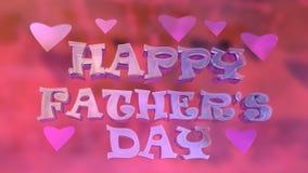 Lycklig faders typografi Logo Design för dag Royaltyfria Bilder
