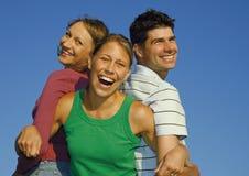 lycklig familj 12 Arkivfoto