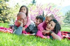 lycklig familj Royaltyfri Bild