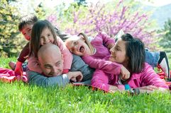 lycklig familj Royaltyfria Foton
