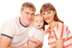 Lycklig familj. Arkivfoton