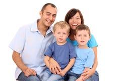lycklig familj arkivbilder