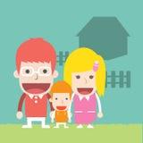 Lycklig familj, Royaltyfria Foton