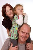 lycklig familj Arkivbild