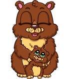 Lycklig familj av björnar Royaltyfri Bild
