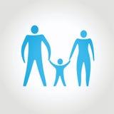 lycklig familj begreppsmässig abstrakt sammansättning Arkivbild