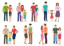 lycklig familj Folkdiagram, barnuppfostran, föräldrar, barn, ungar, son, dotter Royaltyfria Foton