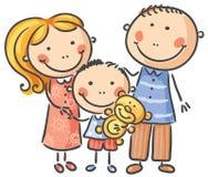 Lycklig familj med ett barn Royaltyfri Foto