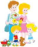 lycklig familj tillsammans Royaltyfria Bilder