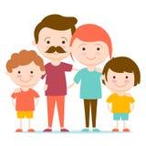lycklig familj tillsammans Royaltyfri Foto