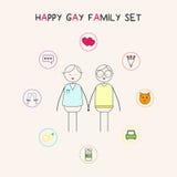 lycklig familjbög Arkivbilder