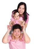 Lycklig familjline up Arkivfoto