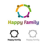 Lycklig familjlogo Royaltyfri Bild