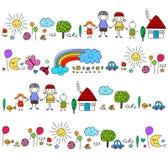Lycklig familjmodell stock illustrationer