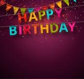 Lycklig födelsedag! Arkivbild