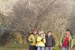 Lycklig ferie för familj Royaltyfria Foton