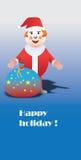 lycklig ferie santa Fotografering för Bildbyråer